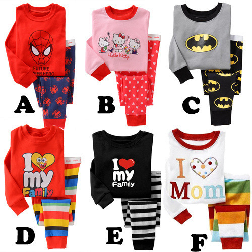 2PCS/2-5T/spring autumn baby clothing set girls boys pajamas set long sleeve kids Sleepwear 100%cotton childrens clothes BC1250<br><br>Aliexpress