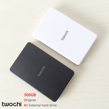 Free Shipping Slim twochi A1 HDD 2.5'' USB2.0 External Hard Drive 500GB Desktop and Laptop Portable Disk Plug and Play On Sale(China (Mainland))