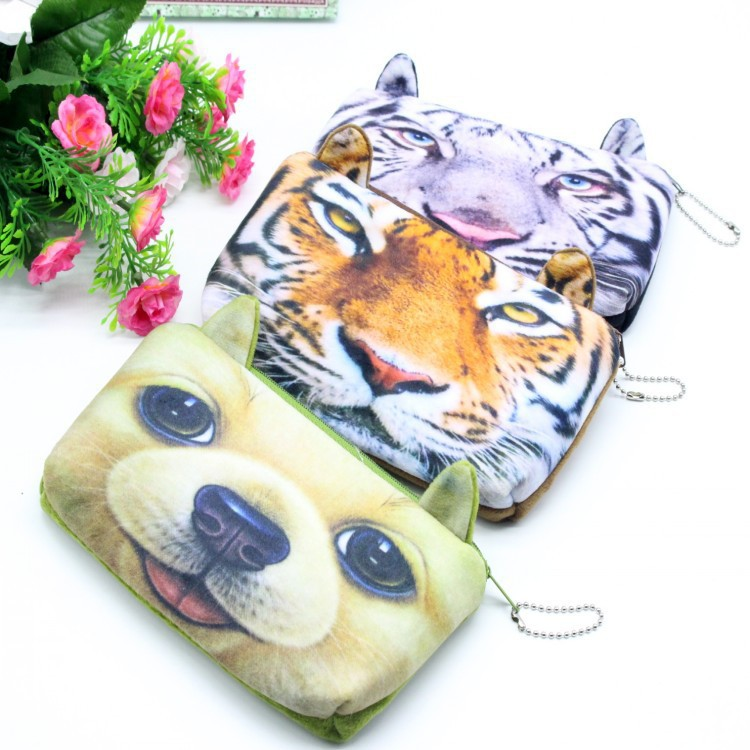 6 Designs 3D Cartoon Animal Pencil Case Estuches School Plush Fabric Pencil Bags For School Supplies Free Shipping 024(China (Mainland))