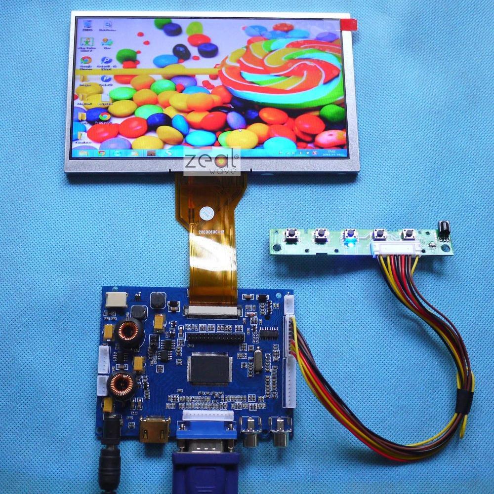 AT070TN90 AT070TN92 AT070TN94 7 INCH LCD Audio HDMI VGA 2AV A/D Audio NEW Board 800*480 Resolution CAR PC Display Screen(China (Mainland))