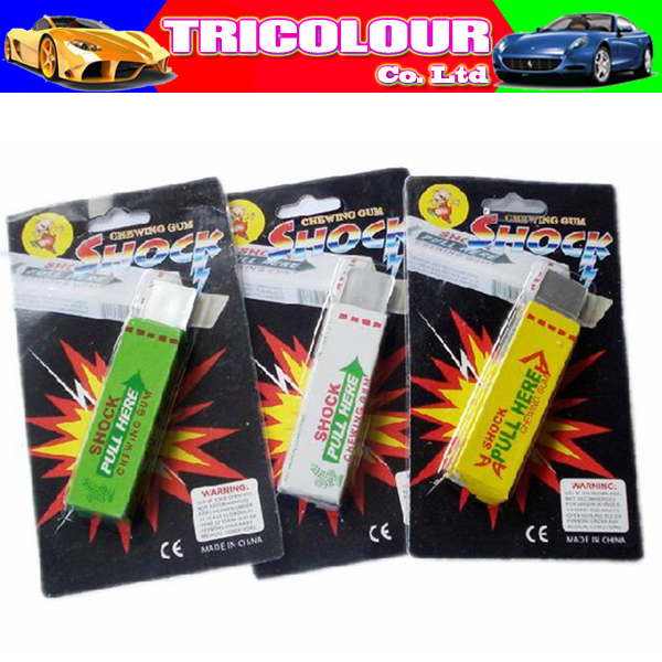 Halloween shock toys Electric chewing gum Funny trick props joking prank 36pcs/lot #LS21(China (Mainland))