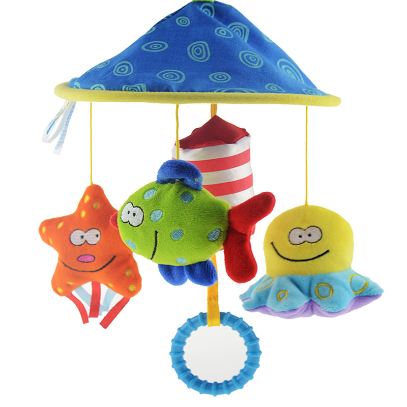Baby Rattles Mobiles Soft Plush Toy Rattles Crib Bed Bell Educational Toy Rotate Wind-up Twist Children Gifts Free shipping(China (Mainland))