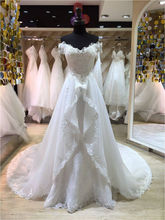 Buy Vestido De Noiva 2016 Custom Made White/Ivory Tulle Luxury Appliques Beaded Lace Mermaid Wedding Dress Detachable Train for $215.28 in AliExpress store