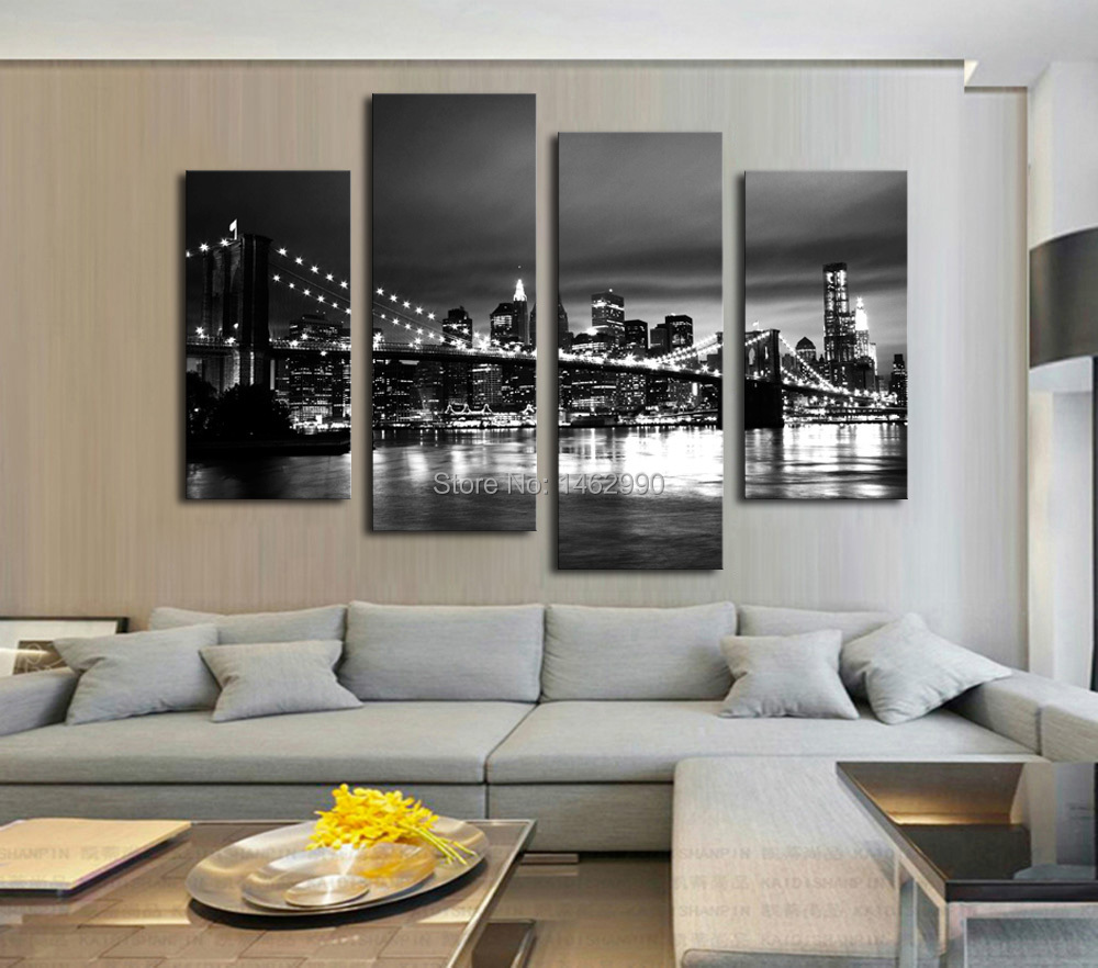 Not Framed Canvas Print Canvas Painting New York Brooklyn Bridge Home Decoration Poster Wall