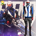 Hot Game COS Soldier 76 Cosplay Costume Clothing for Adult Men Halloween Party Stage Apperal Suit