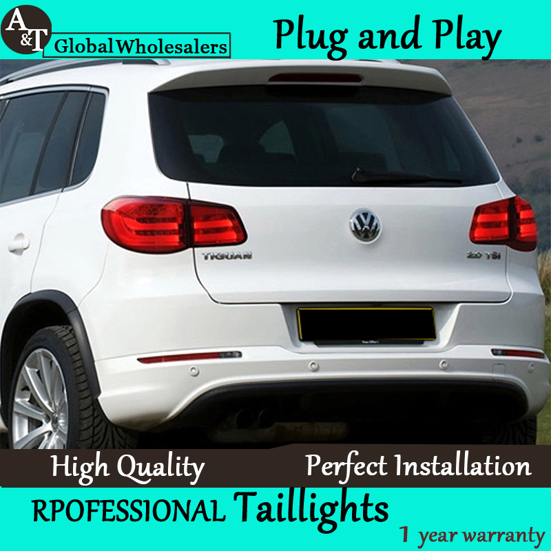 Фотография A&T Car Styling for 2010-2012 Tiguan LED Taillights Volks Wagen Tiguan Tail Lamp Rear Lamp LED DRL+Brake+Park+Signal led light