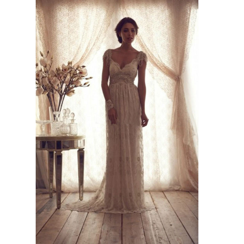 High quality 2016 vintage beads wedding dresses sheer for Vintage backless wedding dresses