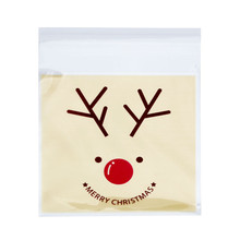 Zero OPP Bags Lovely Christmas Elk Cake Gift Bags Candy Wrapping Paper(China (Mainland))
