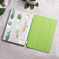 Case for iPad Air 2 Cactus series Tri fold smart cover Ultra Slim PU Leather Back