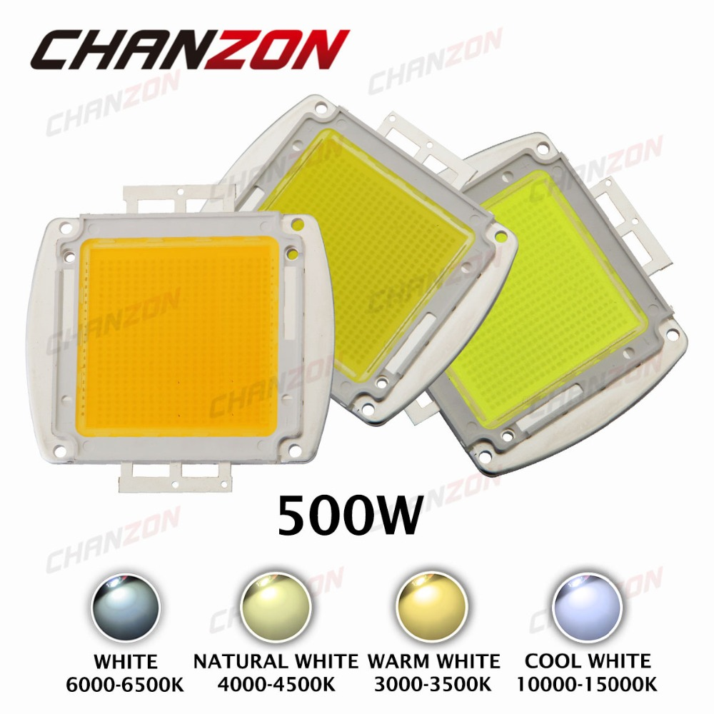 High Power LED Chip 500W Natural Cool Warm White 3000K 4000K 6000K 6500K 10000K Epistar 60V SMD LED Beads Light for Floodlight(China (Mainland))