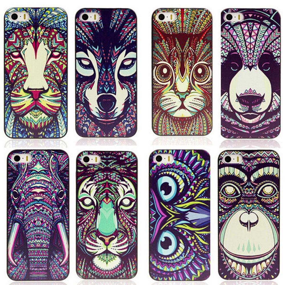 Selling! ! Stylish design painting animals phone cover for Apple iPhone 5 5s case