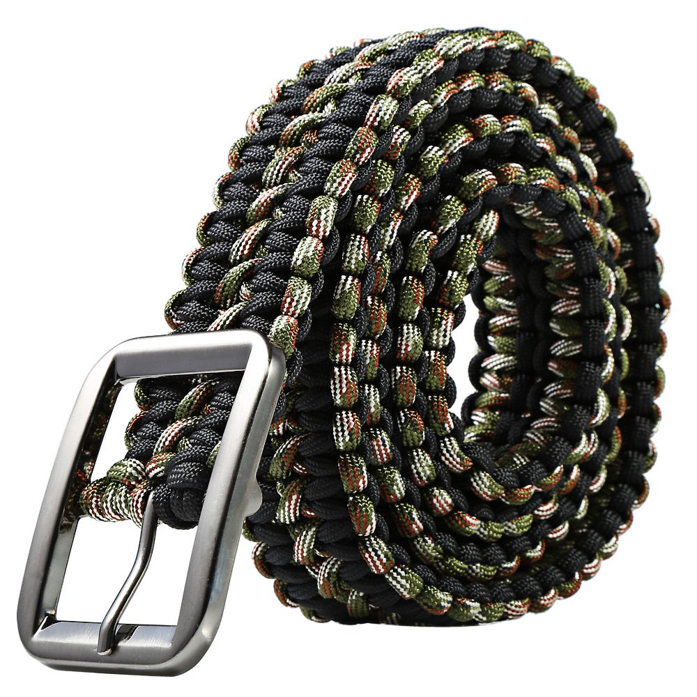 High Quality Survival Paracord Belt Camping Woven Multi tools Hand Made *Colors Travel Kit(China (Mainland))