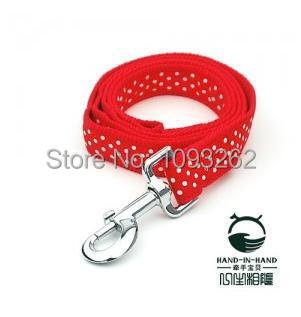Free shipping (3 colors)3pcs/lot Lively Pet Dog dots print Lead 2.5cm PLPP2507(China (Mainland))