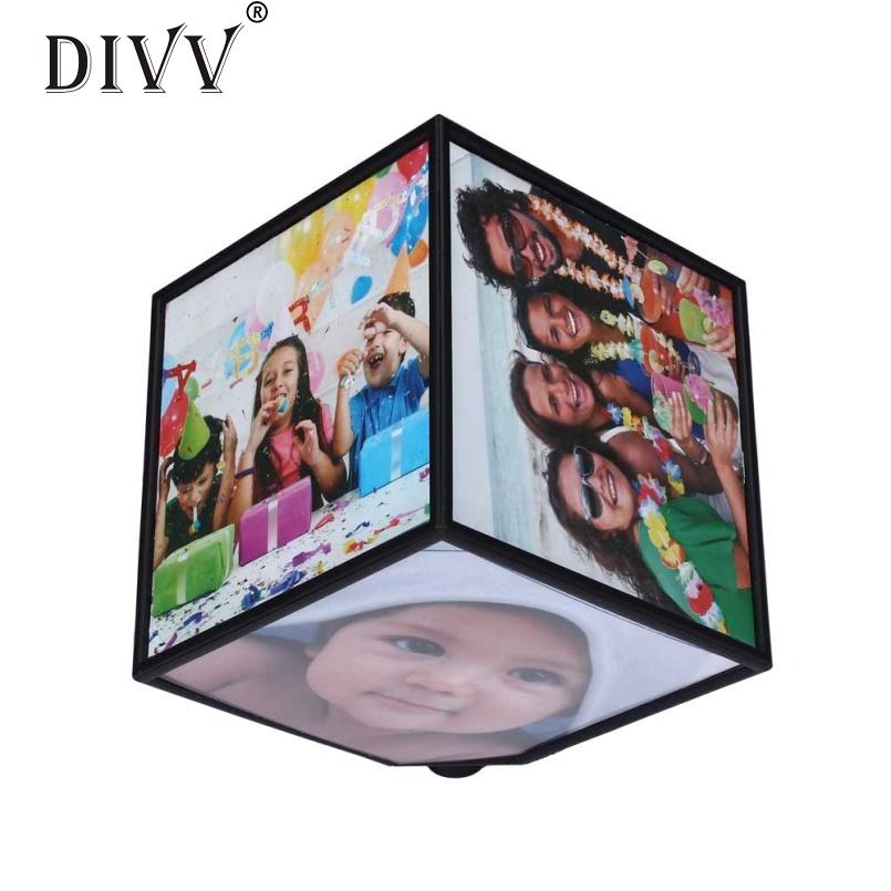 DIVV Top Grand Revolving Picture Photo Frame Cube Multiple Picture Frame 360 Rotating Revolving MULTI Picture Photo Frame Cube(China (Mainland))