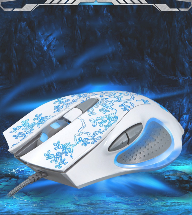 New leopard chasing light cool 169 wired USB gaming mouse laptop mouse 6D mouse Internet cafes(China (Mainland))