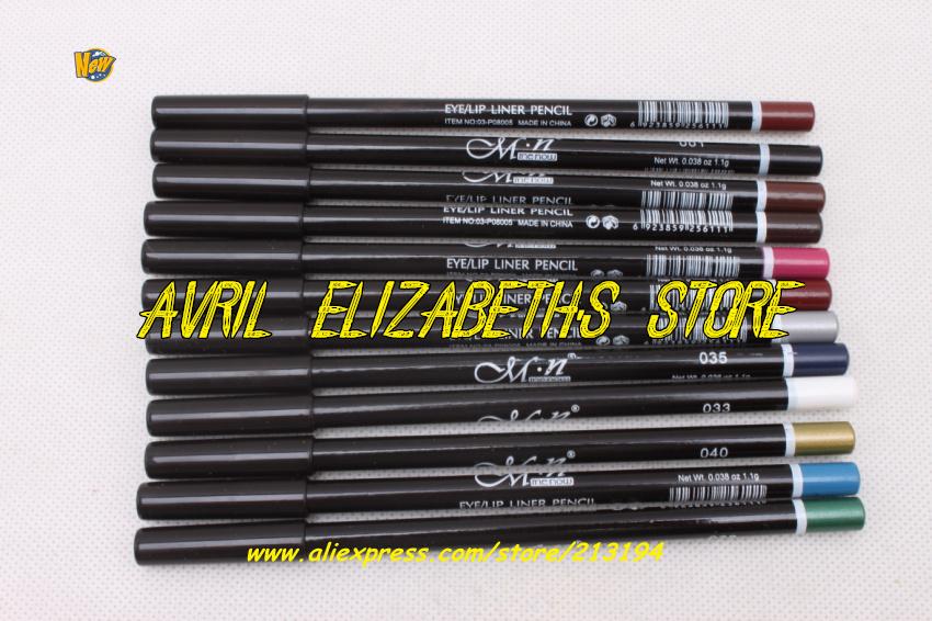12Bag/Lot M.N 12 Colors Eye Make Eyeliner Pencil Waterproof Eyebrow Beauty Pen Liner Lip sticks Eyes Makeup - Avril Elizabeth's Store store