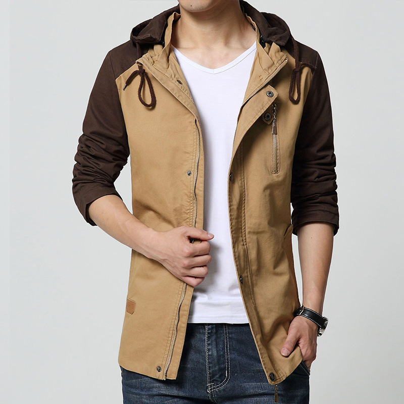 2015 4XL Casual Men Coats Winter Military Style Zipper Hat Jackets For Men Fashion Cool Male ...