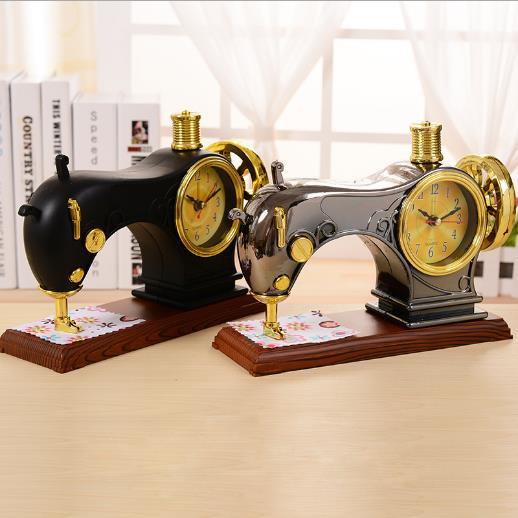 Vintage Sewing Machine Alarm Clock Wake Up Service Watch