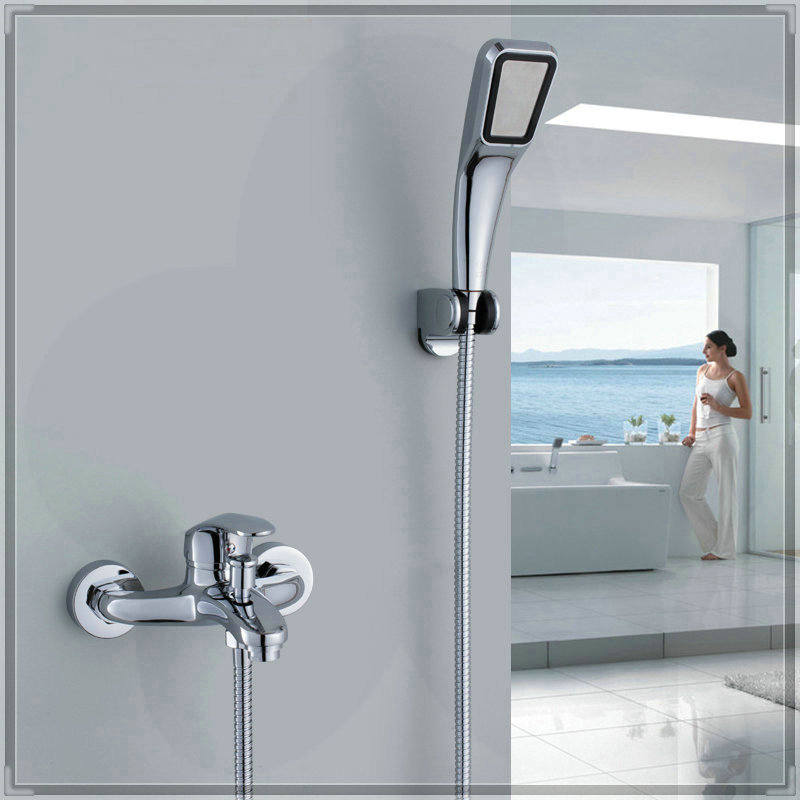 Bathroom Faucets with Diverter Bath Tub Mixer Tap Faucet With Hand Shower Head Shower Faucet bathroom faucets price(China (Mainland))