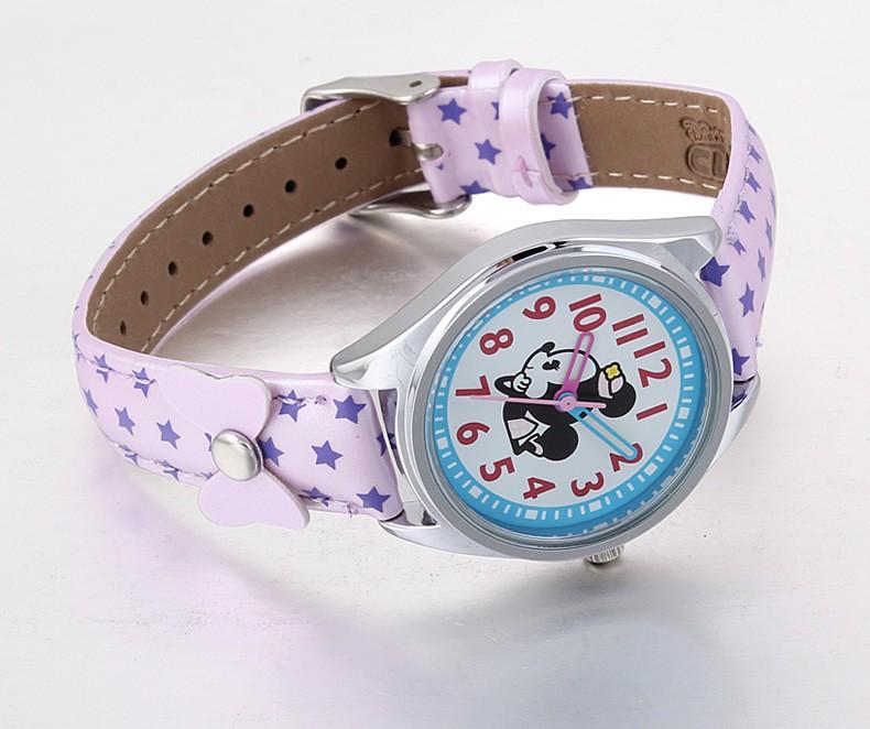 Disney бренда детские часы Минни Девушка кварц 30 м водонепроницаемый дети часы Кожа наручные часы Мультфильм Аниме