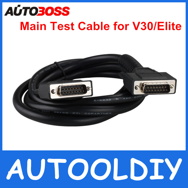 High Quality Main Test Cable for Autoboss V30 Elite Scanner Test Lead Cable, Autoboss Main Wire Free Shipping(China (Mainland))