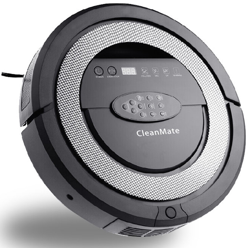 (Free to Canada)V suction Robotic vacuum cleaner QQ5,Auto-sterilize,long working time,never touch charge base and vitual wall(China (Mainland))