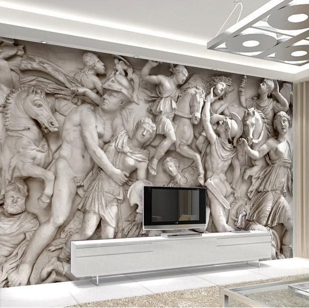 Retro Sofa Hintergrund 3D Wallpaper 3D Wandbild Tapete in 3d ...