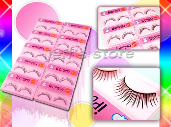 10 PAIRS/Set Mixed Style Black False Eyelashes Extension Eye Lashes fashion fake eyelash