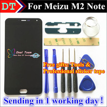 High Quality New LCD Display + Digitizer Touch Screen assembly For Meizu M2 Note Phone 5.5 inch 1920*1080 Black Color(China (Mainland))