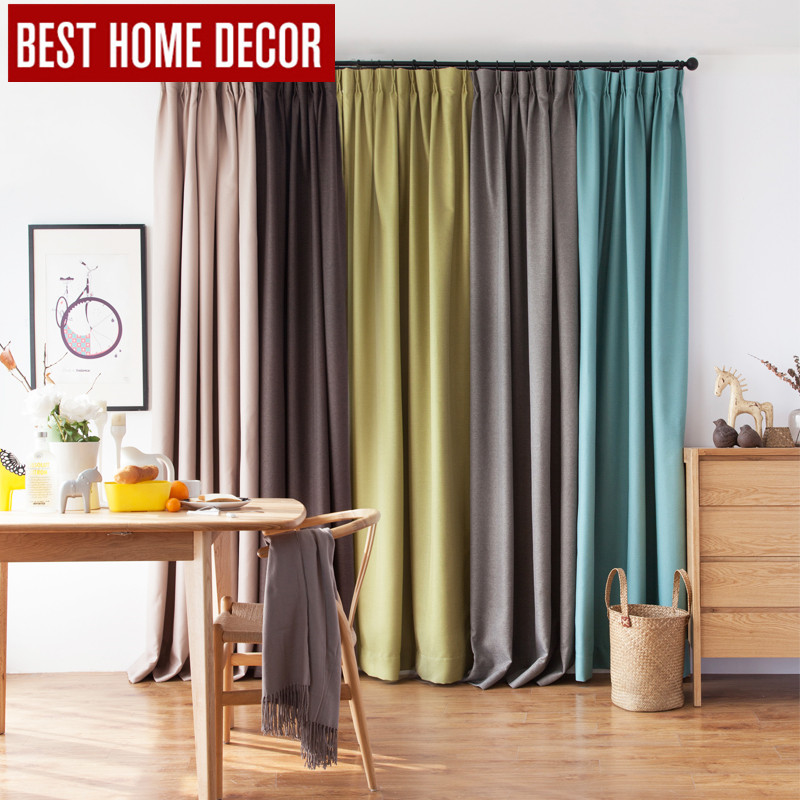 BHD linen modern pleated cloth blackout curtains for window blinds Japan style blackout curtains for living room the bedroom(China (Mainland))