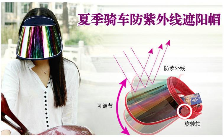 Winter Summer Women's Sun Hat Outdoor Anti Scratch High Temperature Sunscreen Hat UV 100 Protection Caps plastic Sun Visor Hat(China (Mainland))