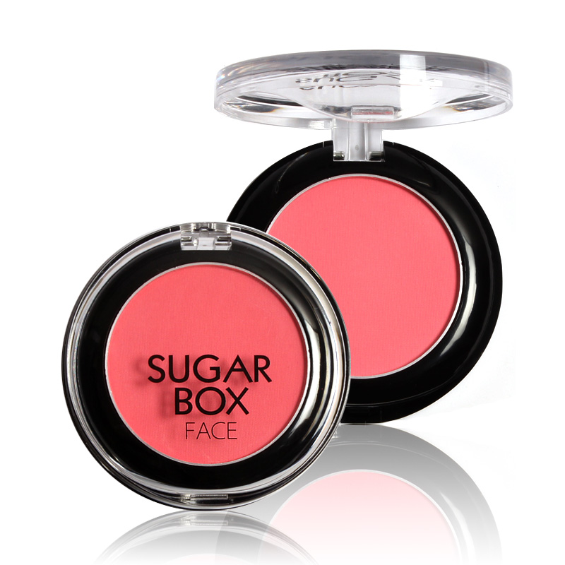 Suger box 8 colors to choose Makeup Baked Blush Palette Baked Cheek Color Face Beauty Blusher Blush Coloret Make Up Cosmetic(China (Mainland))