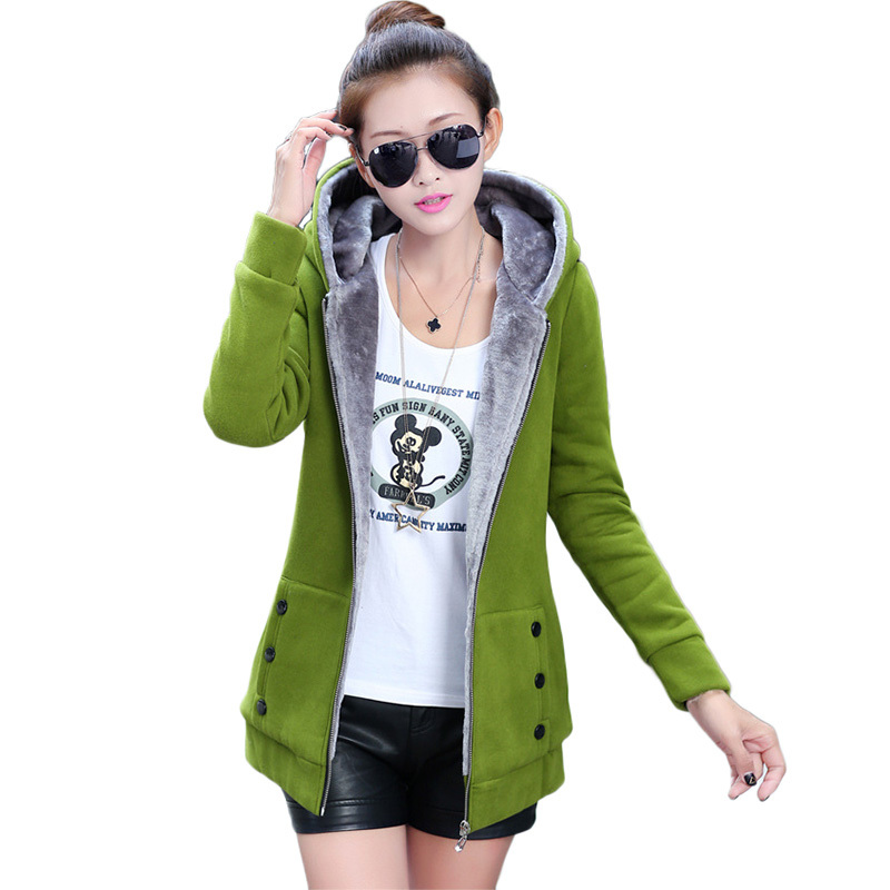 Fashion Plus Size Autumn Winter Women Casual Cardigan Hoodies Sweatshirts Long Sleeve Hooded Fleece Warm Long Coat Jackets Z1104(China (Mainland))