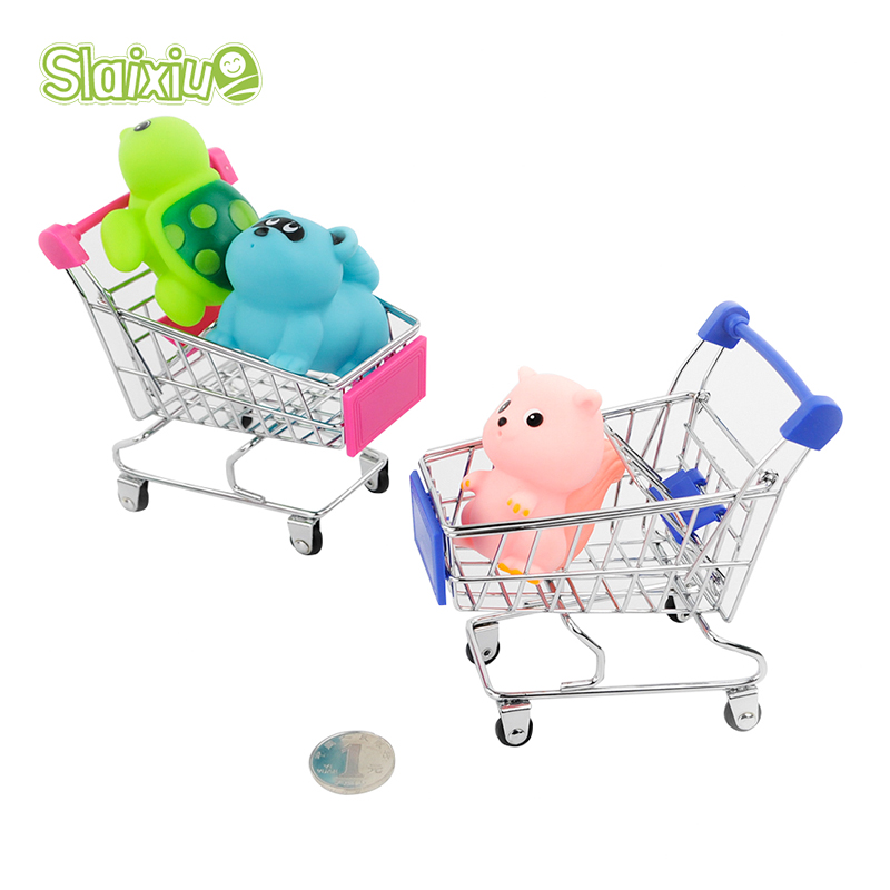 Kid Baby Toys Mini Trolley Supermarket Simulation Toys Shopping Cart Storage box Creative Novelty Birthday Gift Cellphone Holder(China (Mainland))