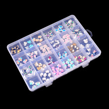 Buy New Clear 13.5*19.5cm Plastic 24 Slots Adjustable Jewelry Storage Box Case Craft Organizer Beads for $2.69 in AliExpress store
