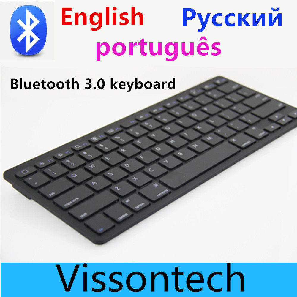 Vensmile V9 russian english Portugal bluetooth keyboard for ipad tablet pc wireless mini gaming keyboard for Mac laptop(China (Mainland))