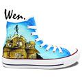 Wen Design Custom Hand Painted Sneakers Pierce The Veil Men Women s High Top Canvas Shoes