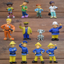 12pcs/set Fireman Sam 3-6cm Cartoon Movie Action Figure Toys(China (Mainland))