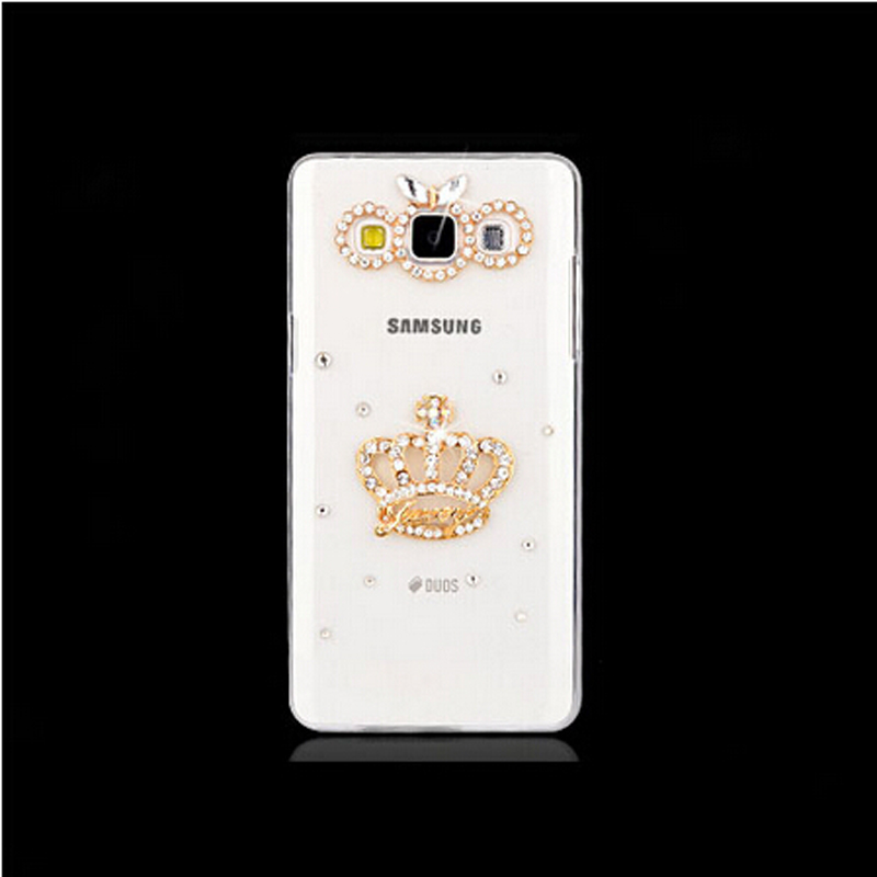 Eight Choose one 2015 New Fashion Bling Transparent diamond Cell Phone Back Cover Skin Hard Case For Samsung Galaxy A5 A5000(China (Mainland))
