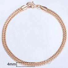 20cm צמידים לנשים גברים 585 עלה זהב לרסן חילזון דוחה Venitian קישור שרשרות גברים של צמידי תכשיטים מתנות KCBB1(Hong Kong,China)