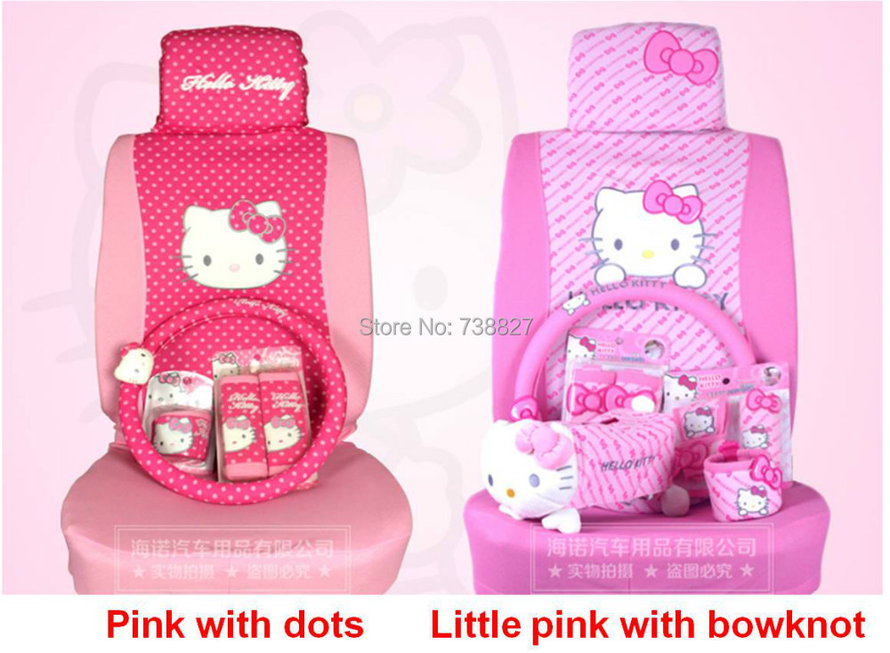 2015 parking car accessories 29pcs set car covers hello kitty seat interior accessories for. Black Bedroom Furniture Sets. Home Design Ideas