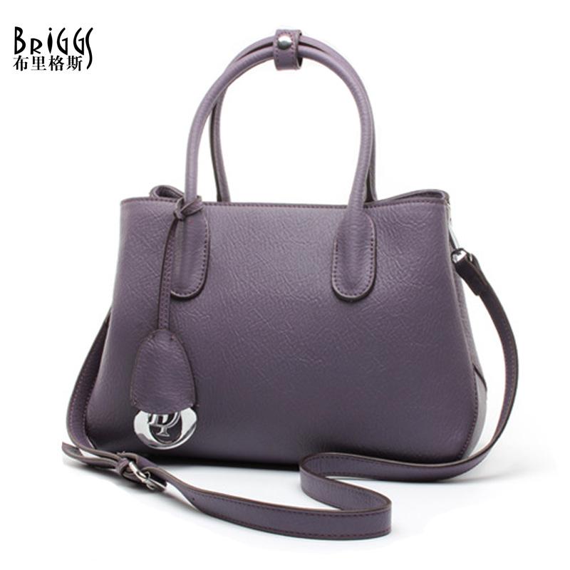 BRIGGS Women Bag Brands Handbags Genuine Cow Leather Women Messenger Bag Luxury Design Fashion Handbag Women Tote Bolsa Feminina(China (Mainland))