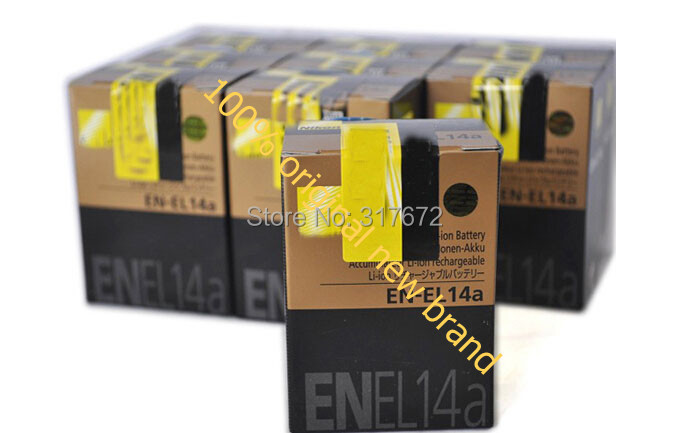 Nikon 100% original new brand EN-EL14 EN EL14 ENEL14 camera battery P7100 P7000 D3100 D3200 D5100 7.4V 1030mah batteries - Original New Brand Store store