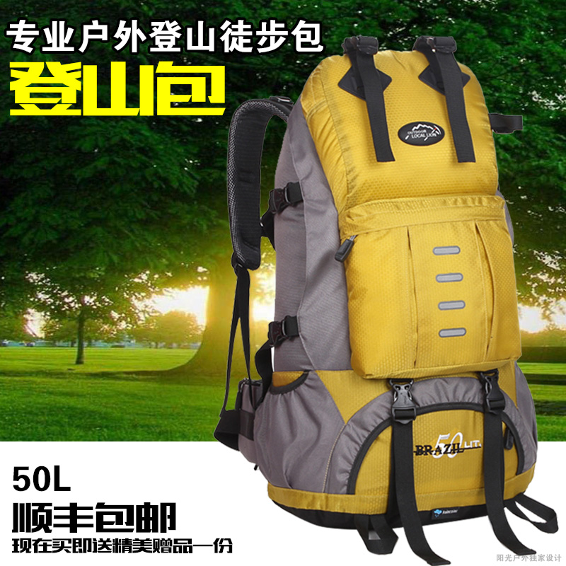 50L professional outdoor camping hiking backpack travel bag mountaineering bag with rain cover 442 free shipping<br><br>Aliexpress