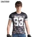Fashion Men T Shirts Luxury Brand Clothing Cool Ice Silk Casual Plaid Camouflage T Shirt Big
