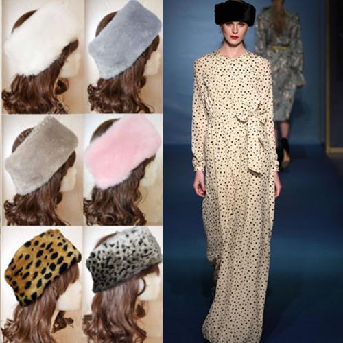 Fashion Hot Ladies Womens Luxury Faux Fur Headband Winter Esqui Ear Muffs Earwarmers Hat Earmuffs 7 Color(China (Mainland))
