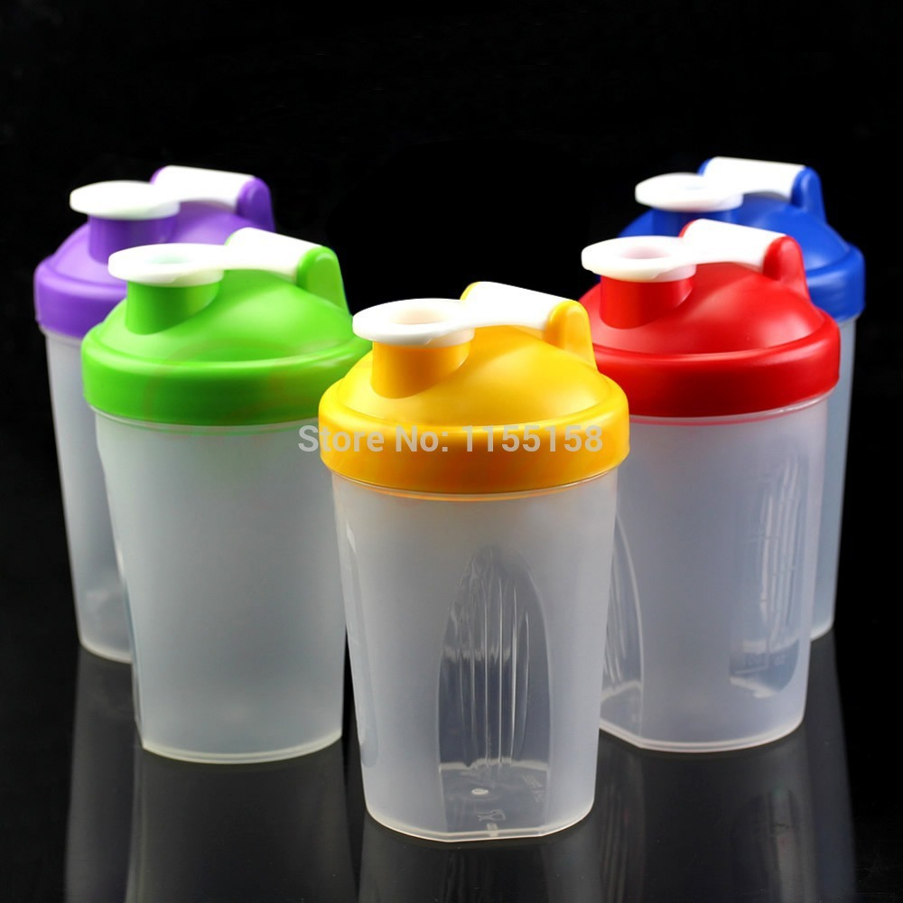 Protein Shaker Lot: 5 Colors Smart Shake Gym Protein Shaker Mixer Cup With