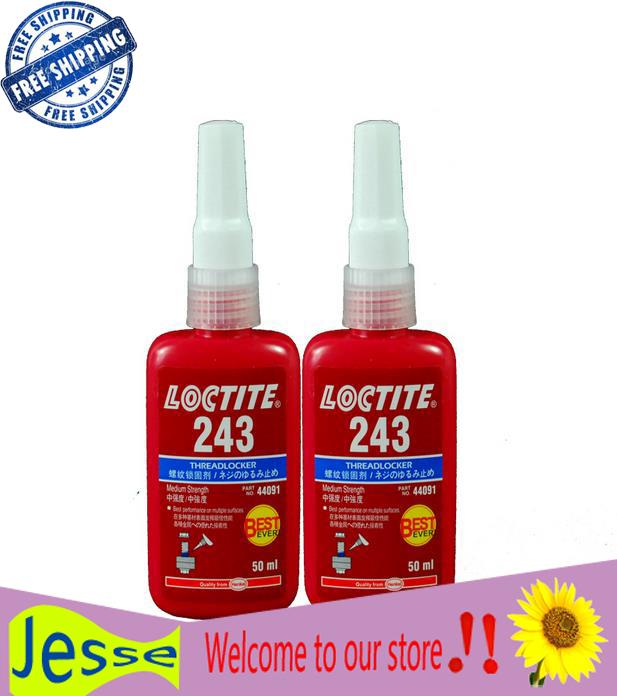 10pcs/lot 50ml free shipping Loctit glue 243 series Anaerobic thread locking agent screw plastic screw-loose glue 50ML(China (Mainland))