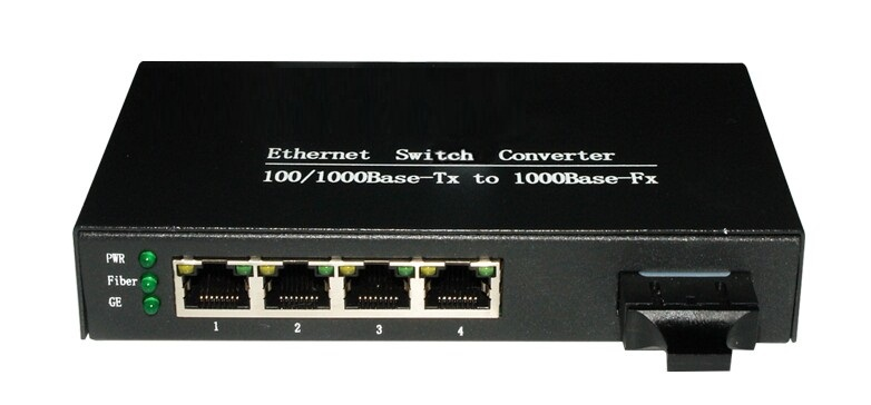 100/1000Mbps 4port Ethernet fiber optic media converter -SC ethernet switch - vscheap trade CO., LTD.'s store