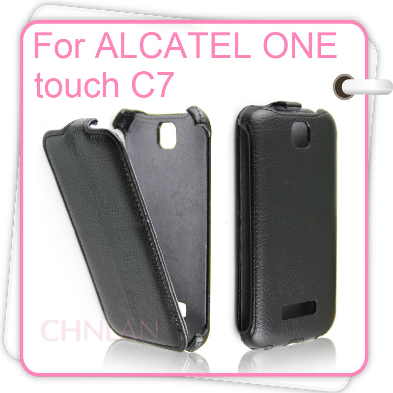 Luxury Vertical Flip PU Leather Case Cover Alcatel One Touch POP C7 7040 7040D 7041D OT7040 - Chnlan Trading Co Ltd store